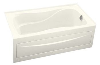 Kohler K-1219-RA-96 Hourglass 5' Bath With Integral Apron and Right Hand Drain - Biscuit