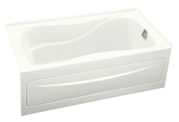 Kohler K-1219-RA-0 Hourglass 5' Bath With Integral Apron and Right Hand Drain - White