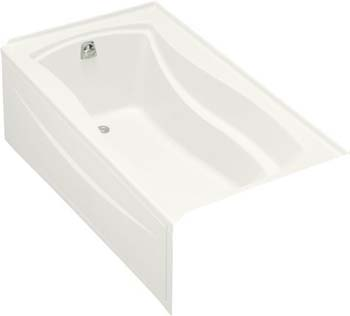 Kohler K-1229-LA-0 Mariposa 5.5' Bath With Integral Apron and Left Hand Drain - White