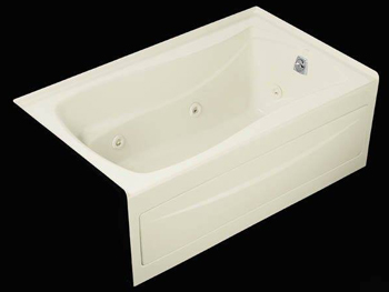 Kohler K-1239-LA-0 Mariposa 5' Whirlpool With Integral Apron and Left Hand Drain - White