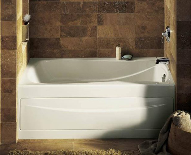 Kohler K 1242 Ra 0 Mariposa 5 Bath With Integral Apron And Right Hand Drain White