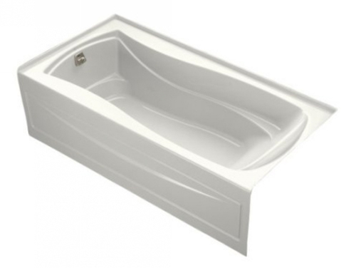 Kohler K-1259-LA-0 Mariposa 6' Bath With Integral Apron and Left Hand Drain - White