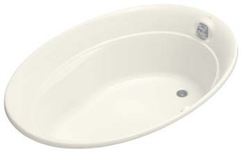 Kohler K-1337-G-96 Serif 5' BubbleMassage Bath - Biscuit