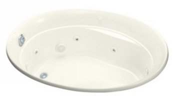 Kohler K-1337-H-96 Serif Whirlpool With In-Line Heater - Biscuit