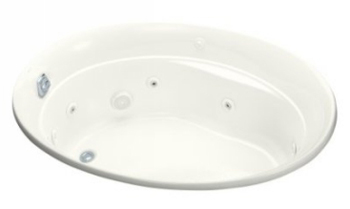 Kohler K-1337-H-0 Serif Whirlpool With In-Line Heater - White
