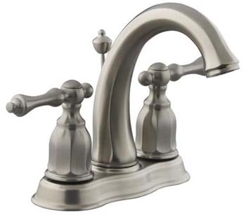 Kohler K-13490-4-BN Double Handle Centerset Lavatory Faucet from the Kelston Collection - Brushed Nickel