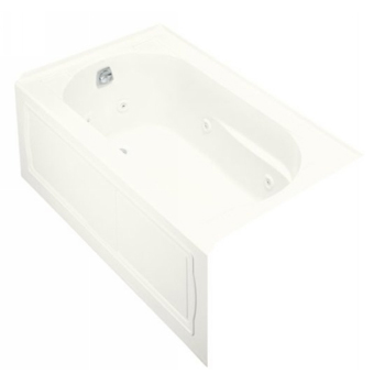 Kohler K-1357-LA-0 Devonshire Whirlpool With Integral Apron and Left Hand Drain - White