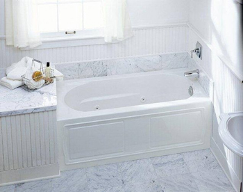 Kohler K-1357-RA-0 Devonshire Whirlpool With Integral Apron and Right Hand Drain - White