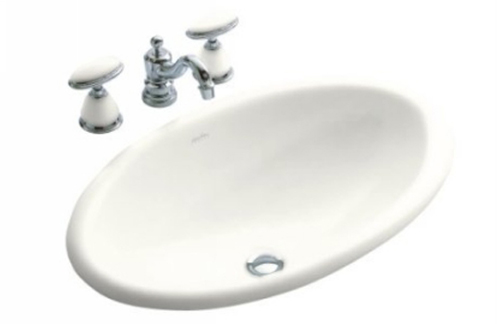 Kohler K-14156-0 Garland Self-Rimming Lavatory - White (Faucet Not Included)