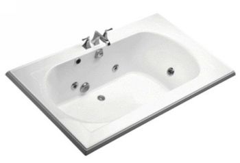 Kohler K-1418-HE-0 Memoirs 6' Whirlpool With Custom Pump Option - White