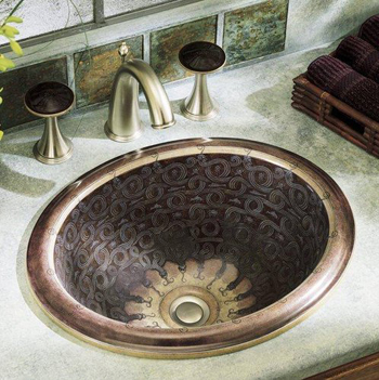 Kohler K-14234-SP-G9 Serpentine Bronze Self-Rimming Lavatory - Sandbar (Faucet and Accessories Not Included)