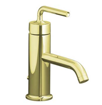 Kohler K-14402-4A-AF Purist One Handle Lavatory Faucet - French Gold