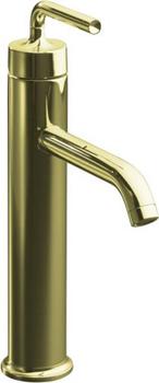 Kohler K-14404-4A-AF Purist One Handle Lavatory Faucet - French Gold