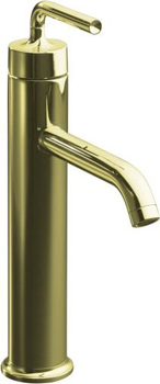 Kohler K-14404-4-AF Purist One Handle Tall Lavatory Faucet - French Gold