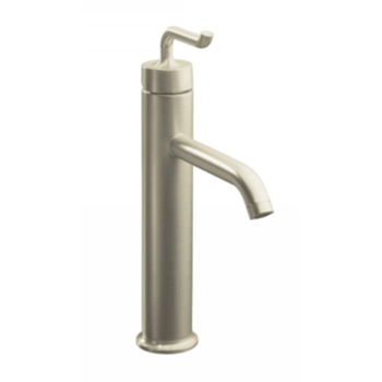Kohler K-14404-4-BN Purist One Handle Tall Lavatory Faucet - Brushed Nickel