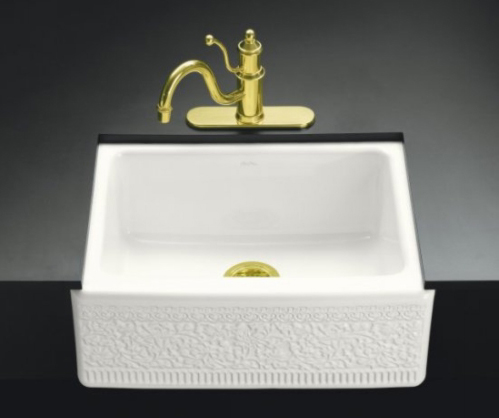 Kohler K-14572-FC-0 Undercounter Mount Single-Compartment Sink With Interlace Design With Integral Apron - White