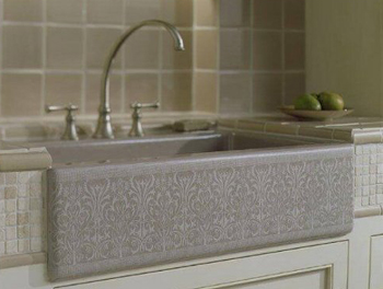 Kohler K-14579-KG-G9 Alencon Lace Single-Compartment Sink - Sandbar (Pictured in Cashmere)