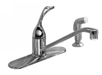 Kohler K-15172-FL-G Single Handle Kitchen Faucet with Sidespray - Brushed Chrome