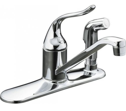 Kohler K 15173 F Cp Single Handle Kitchen Faucet With