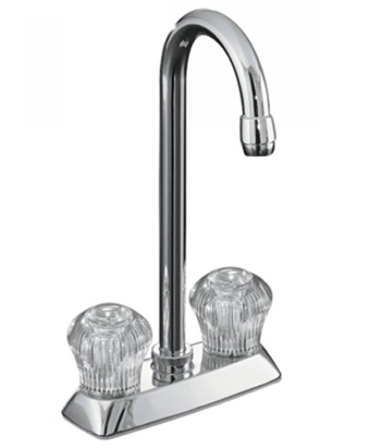 Kohler K-15275-CP Coralais Entertainment Sink Faucet with Sculptured Acrylic Handles - Polished Chrome