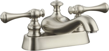 Kohler K-16100-4A-BN Revival Two Handle Centerset Lavatory Faucet - Brushed Nickel