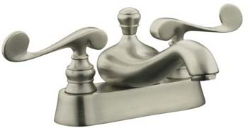 Kohler K-16100-4-BN Revival Two Handle Centerset Lavatory Faucet - Brushed Nickel