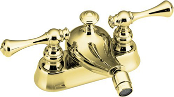 Kohler K-16131-4A-PB Two Handle Bidet Faucet - Polished Brass