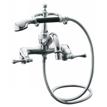 Kohler K-16210-4A-CP Revival Claw Foot Tub Filler With Handshower - Polished Chrome
