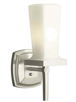 Kohler K-16268-BN Art Deco / Retro Single Up or Down Wall Sconce from Margaux Collection - Brushed Nickel