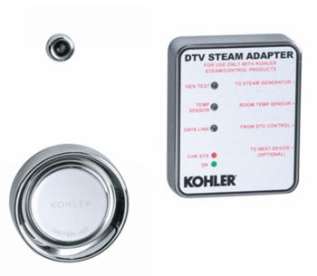 Kohler K-1737-CP DTV II Steam Adapter Kit - Polished Chrome