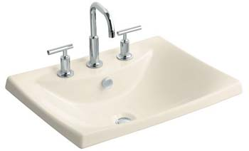 Kohler K-19029-8-47 Escale Self-Rimming L avatory With 8
