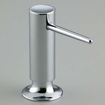 Kohler K-1995-BL Soap/Lotion Dispenser with Contemporary Design - Matte Black (Pictured in Chrome)