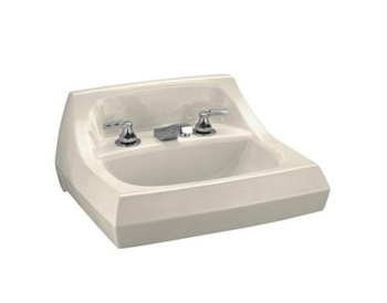 Kohler K-2005-47 Kingston Wall-Mount Lavatory with 4