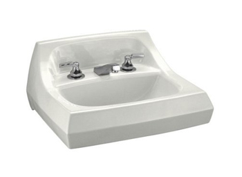 Kohler K-2006-0 Kingston Wall-Mount Lavatory with 8