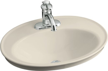 Kohler K-2075-1-47 Serif Self-Rimming Lavatory - Almond