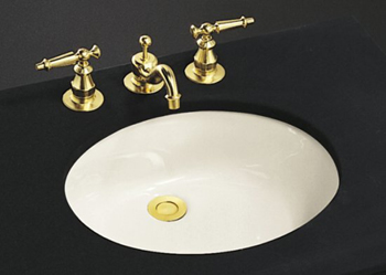 Kohler K-2210-G-47 Caxton Undercounter Lavatory - Almond (Pictured in Biscuit)