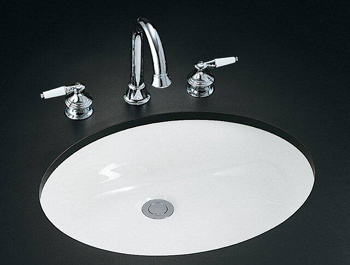 Kohler K-2211-G-96 Caxton Undercounter Lavatory - Biscuit (Pictured in White)