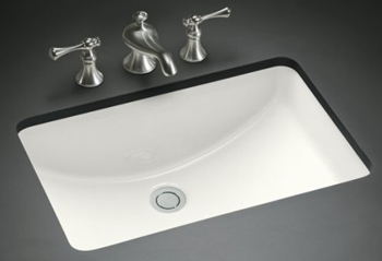Kohler K-2214-G-96 Ladena Undercounter Lavatory - Biscuit (Pictured in White)