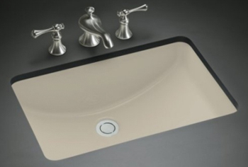 Kohler K-2214-G9 Ladena Undercounter Lavatory Without Glazed Underside - Sandbar (Faucet Not Included)