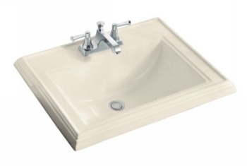 Kohler K-2241-1-47 Memoirs Self-Rimming Lavatory - Almond (Faucet Not Included)