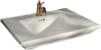Kohler K-2269-1-96 Memoirs Lavatory Basin With Stately Design and Single Hole Drilling - Biscuit