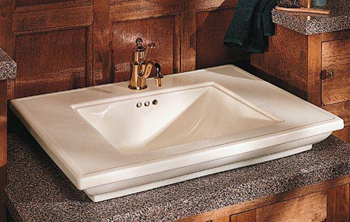 Kohler K-2269-1-0 Memoirs Lavatory Basin With Stately Design and Single Hole Drilling - White