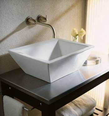Kohler K-2273-0 Bateau Vessels Lavatory - White (Faucet and Accessories Not Included)