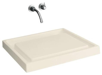 Kohler K-2313-47 Purist Wading Pool Wet Surface Fireclay Lavatory - Almond