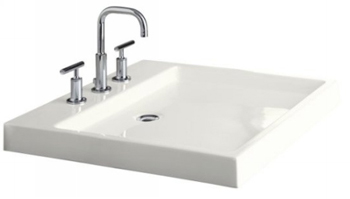 Kohler K-2314-4-0 Purist Wading Pool Fireclay Lavatory With 4