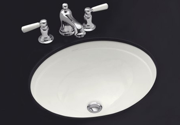 Kohler K-2319-55 Bancroft Undercounter Lavatory - Innocent Blush (Faucet Not Included) (Pictured in White)