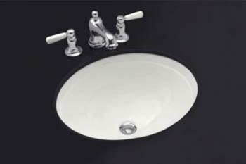 Kohler K-2319-33 Bancroft Undercounter Lavatory - Mexican Sand (Pictured in White)