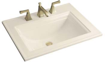 Kohler K-2337-1-47 Memoirs Self-Rimming Lavatory With Stately Design - Almond