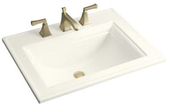 Kohler K-2337-1-96 Memoirs Self-Rimming Lavatory With Stately Design - Biscuit