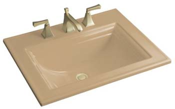 Kohler K-2337-1-33 Memoirs Self-Rimming Lavatory With Stately Design - Mexican Sand